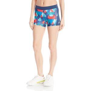 Adidas geometric print mini athletic shorts gym M
